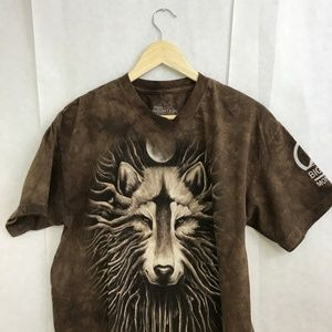 a91a0e7ad9b The Mountain Shirts - The Mountain Wolf Tree Big Sky Brown Tye Dye Shirt